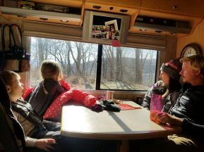 Family day trip in the RV